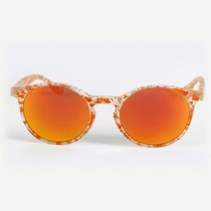 Gilda Pop Cristallo Satinato Arancio Lente Bispecchiata Gialla:Arancio
