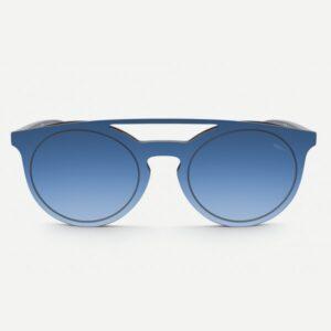 occhiali-da-sole-saraghina-space2-nero-blu-frontale-in-mascherina-cerchiata-blu-specchiato