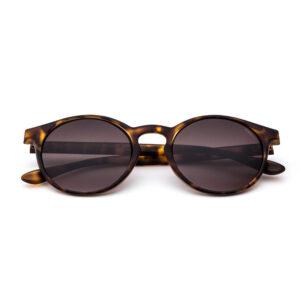 Occhiale Gilda -26sun Colore tartarugato scuro Satinato Lente sfumata marrone.