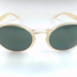 Occhiale Gilda Bicolor-37ge Colore Miele  Lente verde Bottiglia.