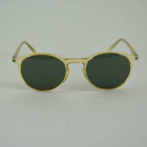 Occhiale Emma-37ge miele lucido lente verde bottiglia.