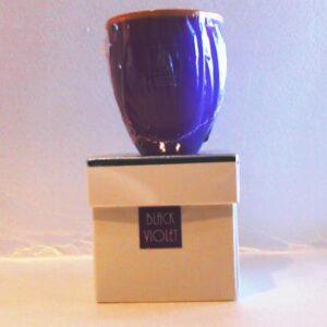 Bicchiere di vetro con coperchio  profumato black violet.