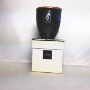 Candela in bicchiere di vetro fragranza opium