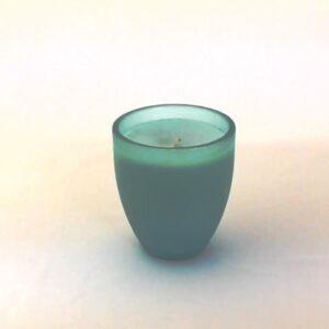 Candela bicchiere vetro profumo acqua.