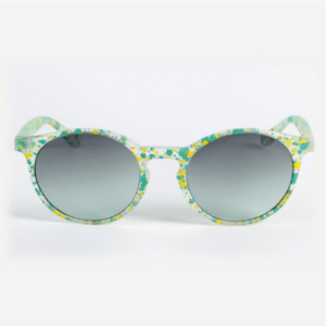 Gilda Pop Cristallo Satinato Verde:Giallo Lente Bisfumata Grigia:Verde