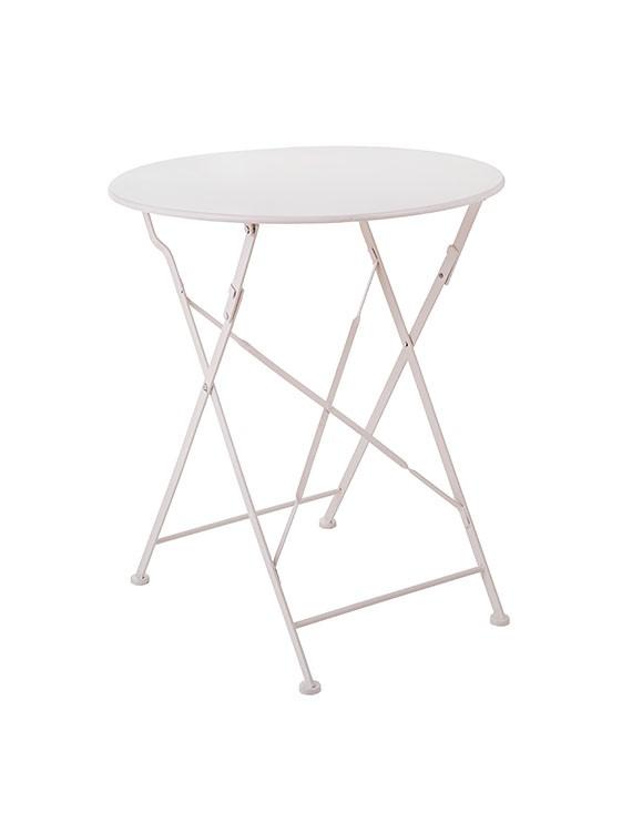 Tavolo richiudibile in ferro jardin colore bianco il - Tavolo richiudibile ...