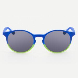 Occhiali da sole Saraghina New Gilda Bicolor Blu-Verde Lente Grigia Uniforme