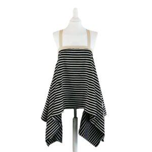 Top Alba Tg.m Colore nero/bianco/beige Asimmetrico Con bretelle in gro a incrocio dietro colore beige,materiale  jersey