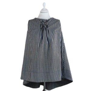 Top Camicia Allegra Tg.xl Colore nero e bianco,Asimmetrico