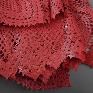 Tovaglia in pvc vinile impermeabile rettangolare Cm.150×264 colore cherry 12 posti