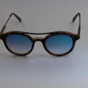 Occhiale  Aurelio Iron-152qq Tartarugato satinato lente flash blu.