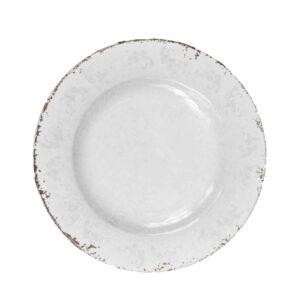 Piatto baroque e rock/elegance   bar08 colore grigio in ceramica.