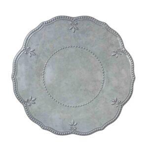 Piatto   piano  colore grigio in resina.