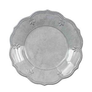 Piatto   fondo grigio