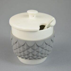 Zuccheriera colore grigio   chic&greige in ceramica.