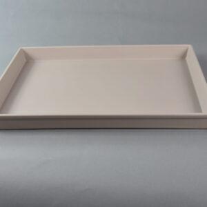 Vassoio colore tortora rettangolo 36×28 cztr1 bre02