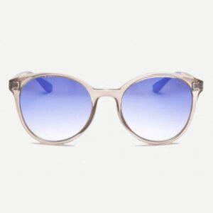 Occhiale saraghina  gildone-237gg,malva, cristallo lucido,terminale blu,lente flash blu.