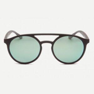 Occhiale orlando-115ht  nero satinato,lente flash verde/blu.
