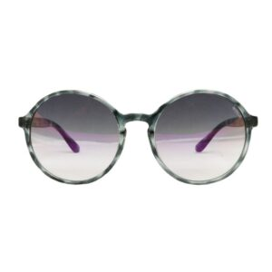 Occhiale Nadine-223ts tartarugato grigio lucido, lente flash viola.