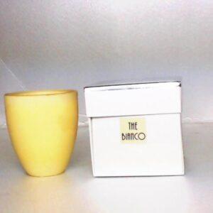 Bicchiere in vetro  fragranza the bianco