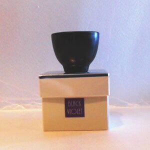 Candela a vasatto di coccio ben in scatola argento black violet