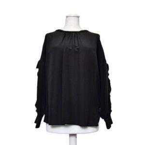 Shirt camicia tg.l sognix solid silk  rouge sulle maniche colore nero.