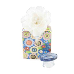 Bottiglia jacko  375 ml.con fiore cm.9