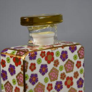 Bottiglia joplin 375 ml.con fiore cm.9 diffusore profumo.