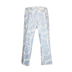 Pantalone sandy Tg.44 t294 115 sandy ffil coupe colore 036 bianco/azzurro.