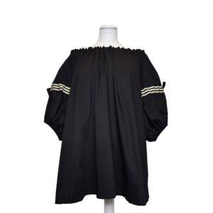Casacca Corsica Tg.xs cs 018 361 casacca corsica in seta /cotone con arriccio manica pop.nero+gro riga.