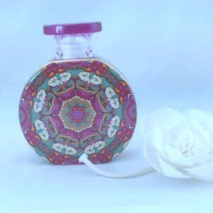 Bottiglia caroline mrbot2.fou01 bottiglia 375 ml con fiore cm.9.