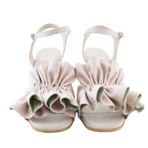 Sandalo tacco cm.6 N.38 art.av2210 pellame nappa  colore 1579 calzatura donna.