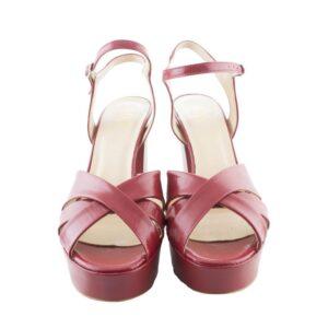 Sandalo tacco cm.11 n.40 art.ac2504kid tacco cm.11 calzatura donna colore rosso.