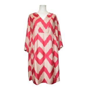 Vestito Tg.l dress ribes sartre silk blend colore rosso/beige.
