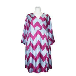 Vestito Tg.s dress provence sartre silk blend colore grigio/fuxia.