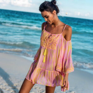 Vestito Tg.free art.j44 robe-dress laguna tu pink 100% viscose