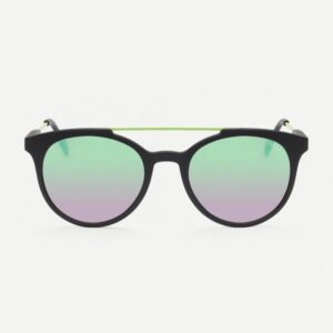 Occhiale saraghina gerry iron-144nn nero asta verde acido lente flash verde.