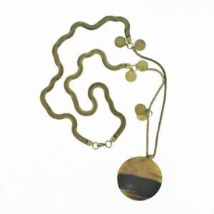 Collana snake chain bronzo scuro cerchio.