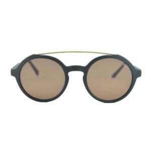 Occhiale saraghina  Teo flat-115ll nero Lente piatta marrone.