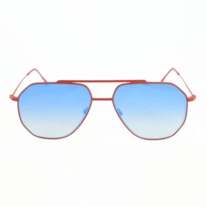 Occhiale saraghina ciro-356mgg rosso satinato,lente flash blu.