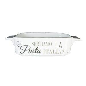 Piatto rgm306920 piatto in ceramica serviamo la pasta italiana colore bianco.