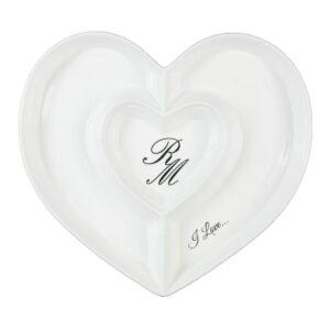 Antipastiera rgm306270 antipastiera cuore ceramica cm.23x21x3,5