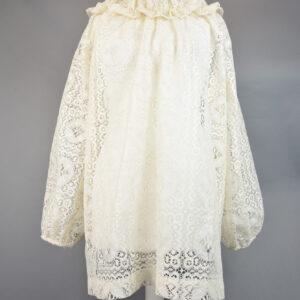 Camiciap14/18 camicia pizzo cotone colore bianco.