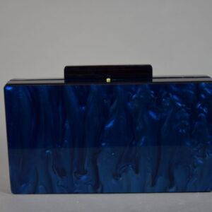 Pochette borsettina art.aca024 sintetico colore oceanblue.