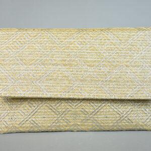 Borsetta in tessuto aca467 colore argento.