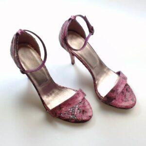 Sandalo pitone rosa