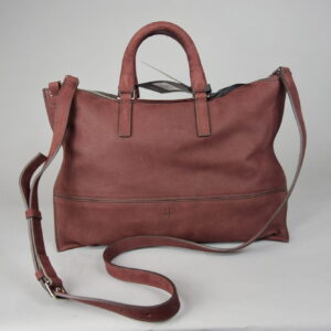 Borsa mod.aiko s  011 materiale nubux 320 colore burgundy.