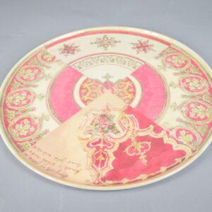 Piatto  plplai.che01 diametro cm.35  colore rosso in resina.