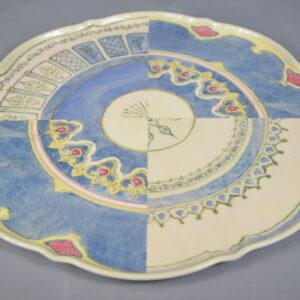 Piatto  plplai.che01 diametro cm.35  colore avio in resina.