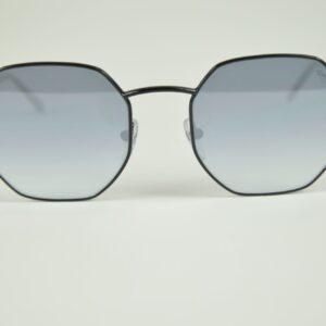Occhiale da sole diana-371mjj marca saraghina novita'estate 2019 colore nero lucido lente flash argento terminale nero